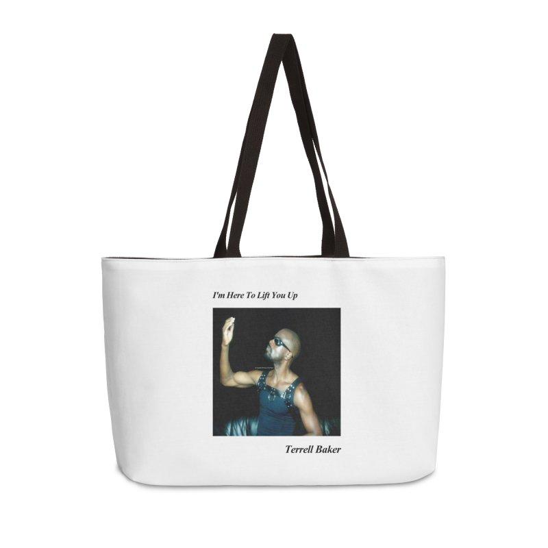 TerrellBaker_2019_ImHereToLiftYouUpAlbum_NoSongList_MerchandiseArtwork Accessories Weekender Bag Bag by Duane Terrell Baker - Authorized Artwork, etc