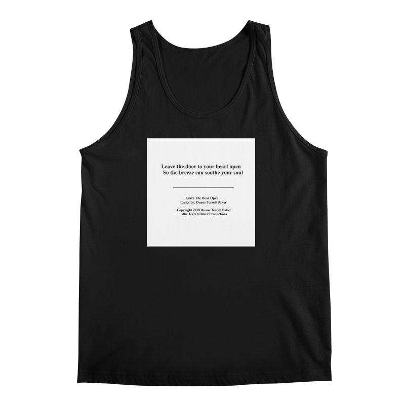 LeaveTheDoorOpen_TerrellBaker2018TroubleGetOuttaMyWayAlbum_PrintedLyrics_MerchandiseArtwork_04012019 Men's Regular Tank by Duane Terrell Baker - Authorized Artwork, etc
