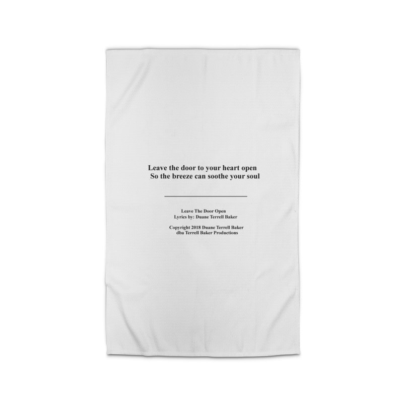 LeaveTheDoorOpen_TerrellBaker2018TroubleGetOuttaMyWayAlbum_PrintedLyrics_MerchandiseArtwork_04012019 Home Rug by Duane Terrell Baker - Authorized Artwork, etc