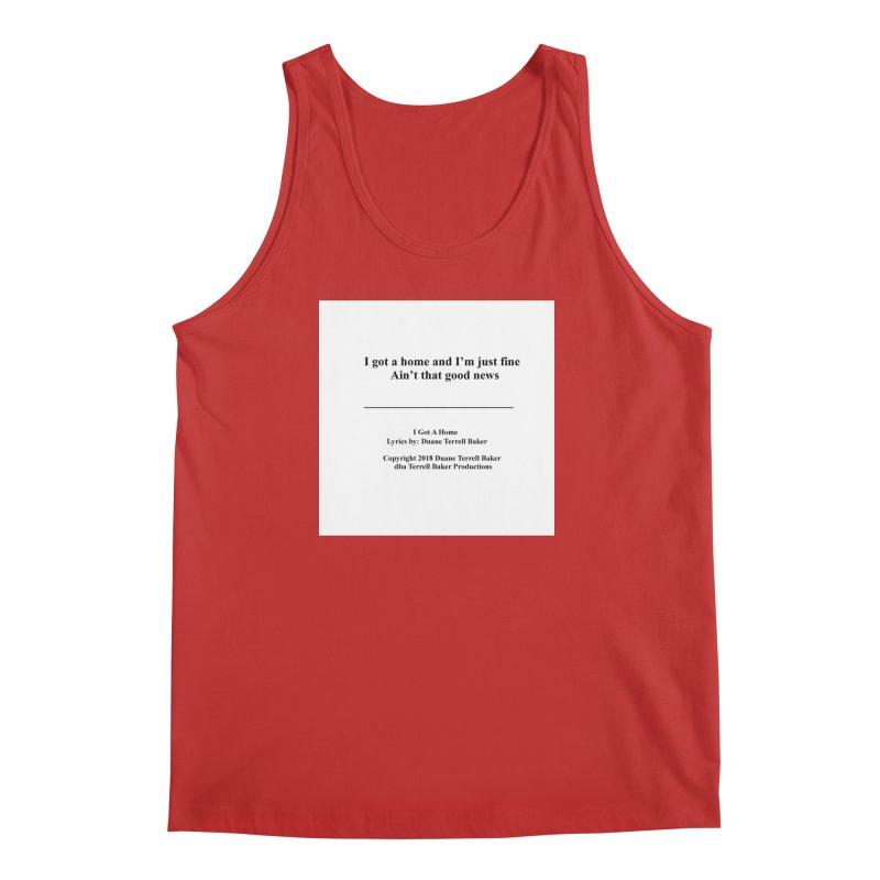IGotAHome_TerrellBaker2018TroubleGetOuttaMyWayAlbum_PrintedLyrics_MerchandiseArtwork_04012019 Men's Regular Tank by Duane Terrell Baker - Authorized Artwork, etc