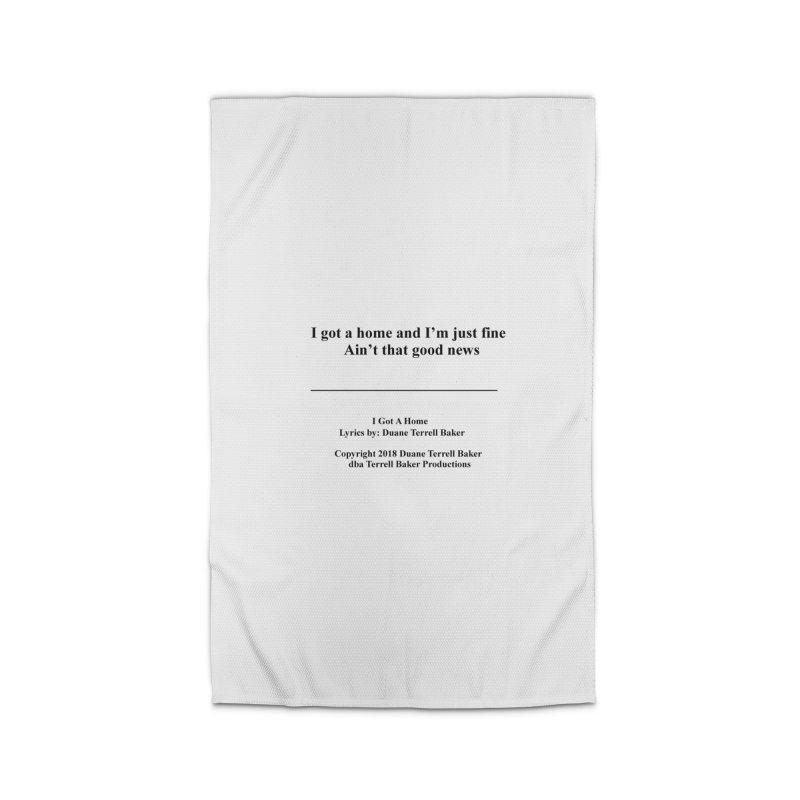 IGotAHome_TerrellBaker2018TroubleGetOuttaMyWayAlbum_PrintedLyrics_MerchandiseArtwork_04012019 Home Rug by Duane Terrell Baker - Authorized Artwork, etc