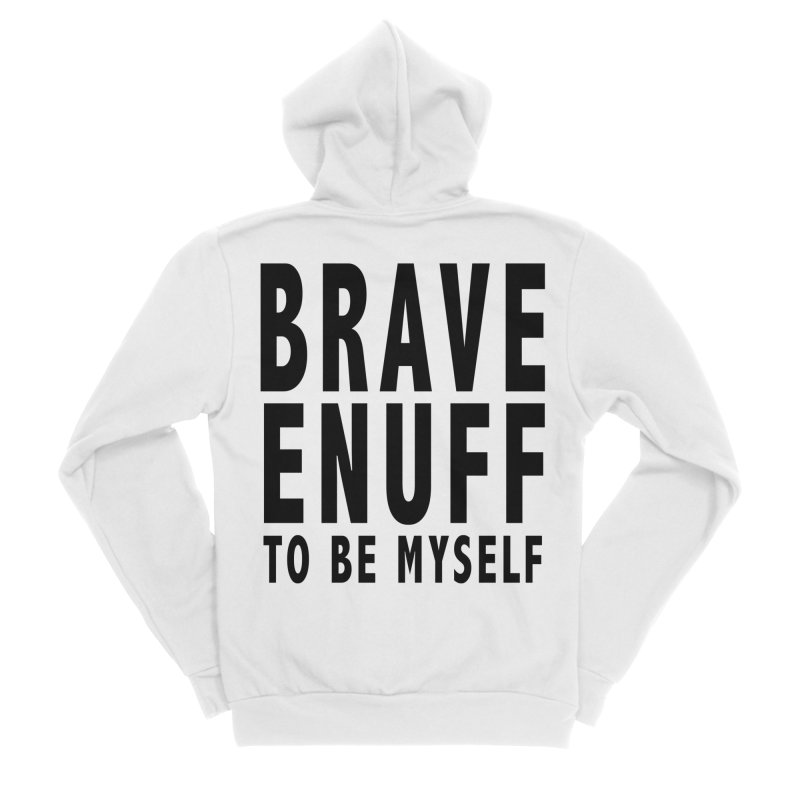 Brave Enuff Blk Women's Sponge Fleece Zip-Up Hoody by Terry Bradford Store