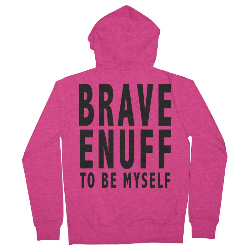 Brave Enuff Blk Women's French Terry Zip-Up Hoody by Terry Bradford Store