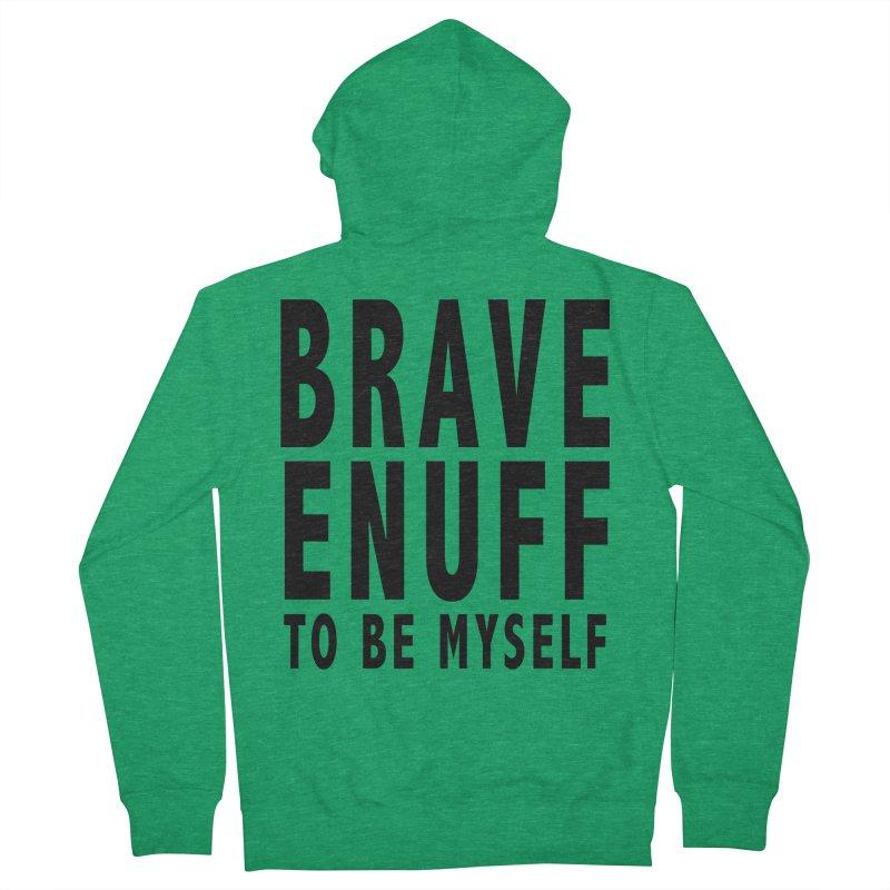 Brave Enuff Blk Men's Zip-Up Hoody by Terry Bradford Store