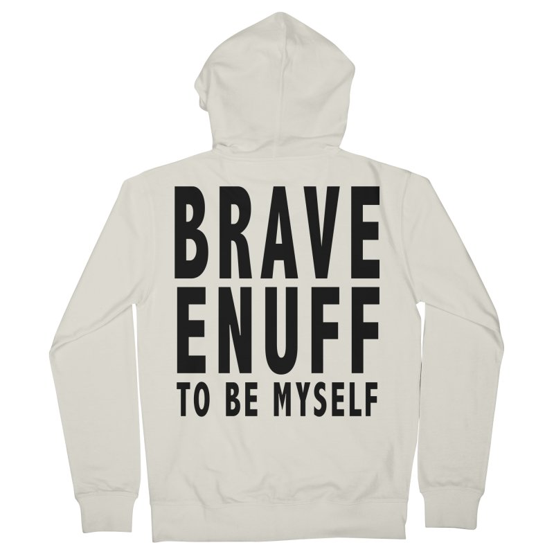 Brave Enuff Blk Men's French Terry Zip-Up Hoody by Terry Bradford Store