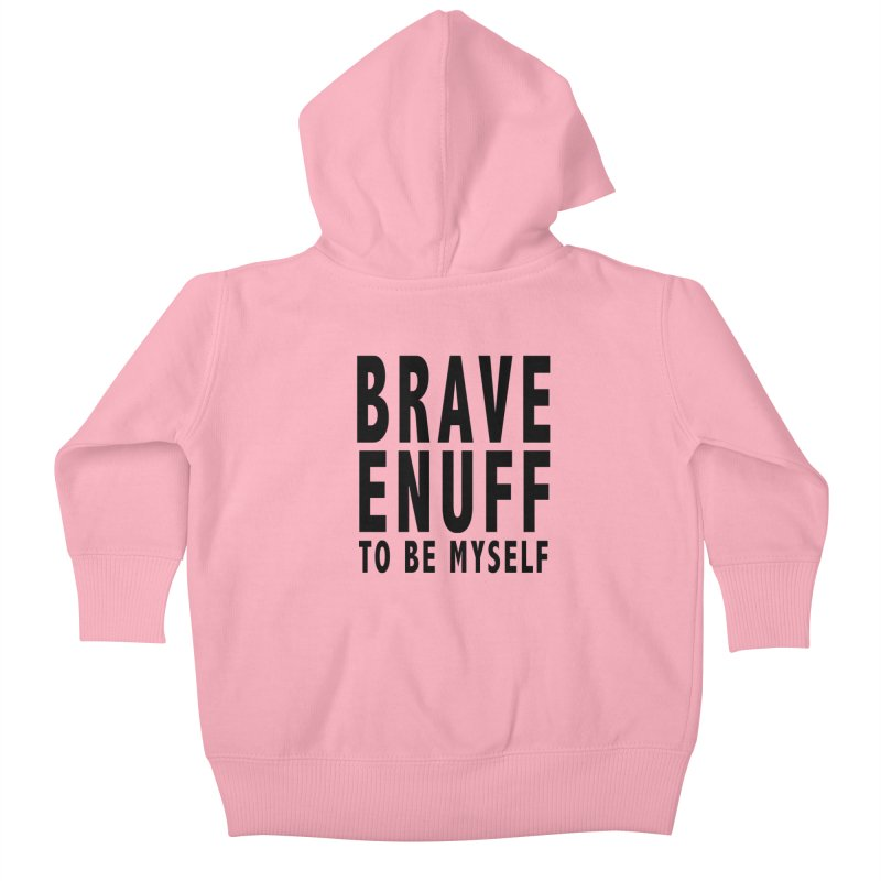 Brave Enuff Blk Kids Baby Zip-Up Hoody by Terry Bradford Store
