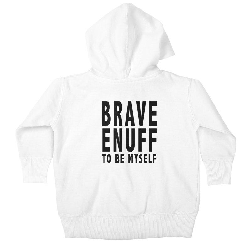 Brave Enuff Blk Kids Baby Zip-Up Hoody by Terry Bradford Store