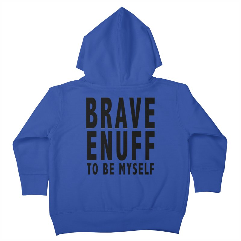 Brave Enuff Blk Kids Toddler Zip-Up Hoody by Terry Bradford Store