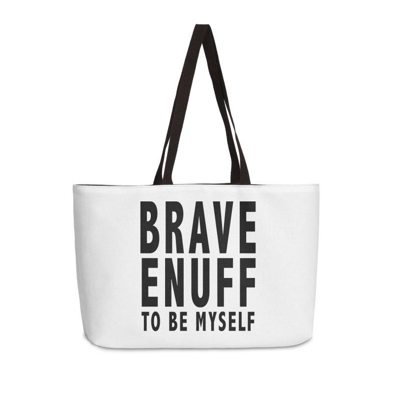 Brave Enuff Blk Accessories Weekender Bag Bag by Terry Bradford Store