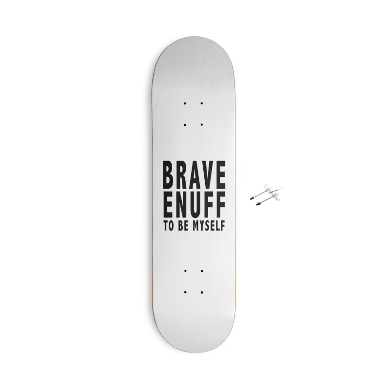 Brave Enuff Blk Accessories With Hanging Hardware Skateboard by Terry Bradford Store