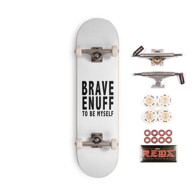 Brave Enuff Blk Accessories Complete - Pro Skateboard by Terry Bradford Store