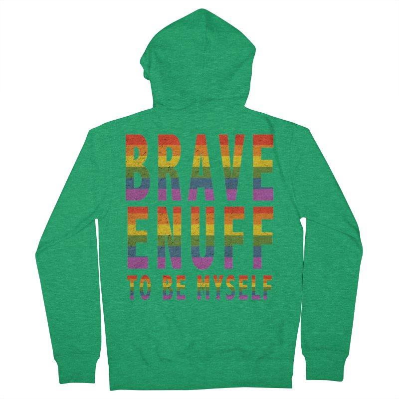 Brave Enuff Rainbow Women's Zip-Up Hoody by Terry Bradford Store