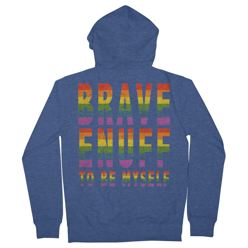 Brave Enuff Rainbow Women's French Terry Zip-Up Hoody by Terry Bradford Store
