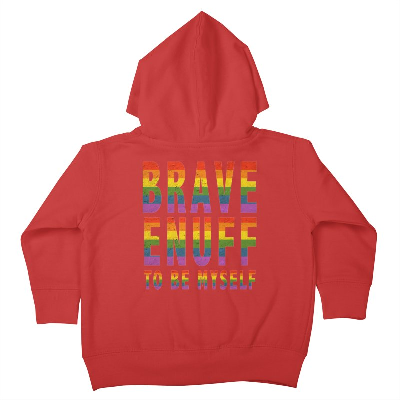 Brave Enuff Rainbow Kids Toddler Zip-Up Hoody by Terry Bradford Store