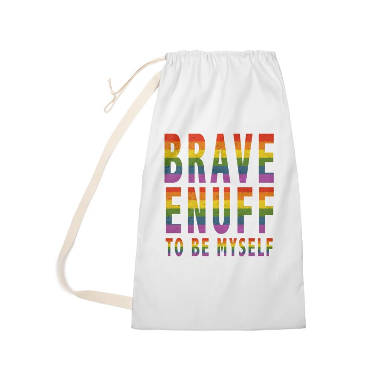 Brave Enuff Rainbow Accessories Bag by Terry Bradford Store