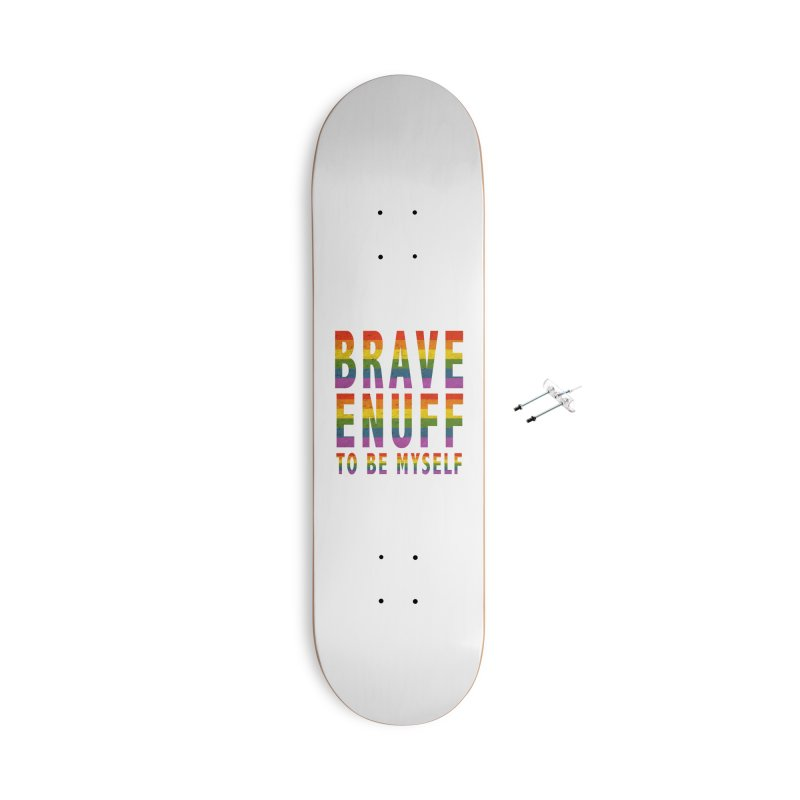 Brave Enuff Rainbow Accessories With Hanging Hardware Skateboard by Terry Bradford Store