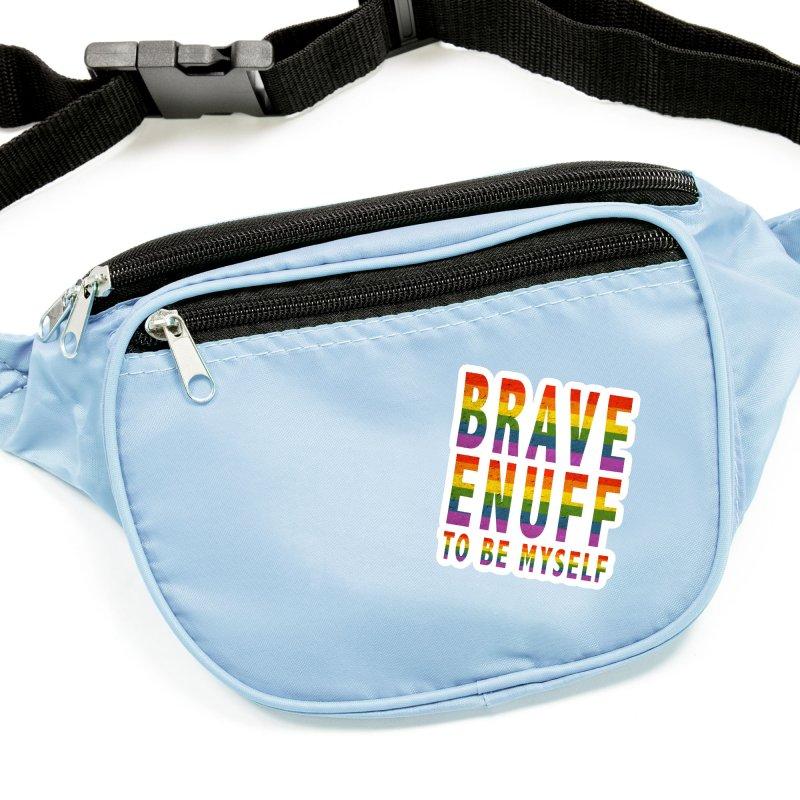 Brave Enuff Rainbow Accessories Sticker by Terry Bradford Store