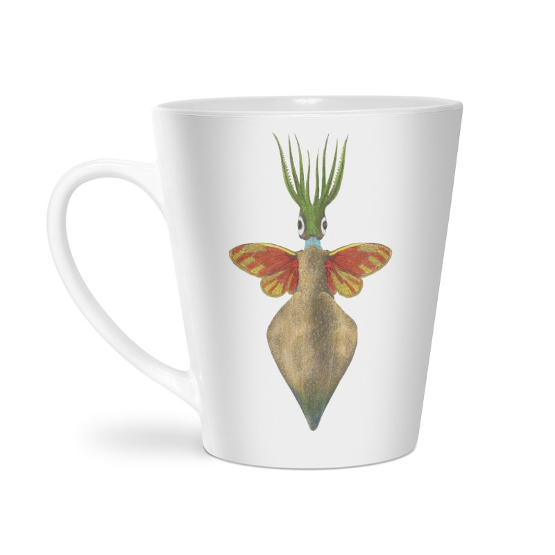 Winged Cuttlefish Accessories Latte Mug by TeeGoo's Shop