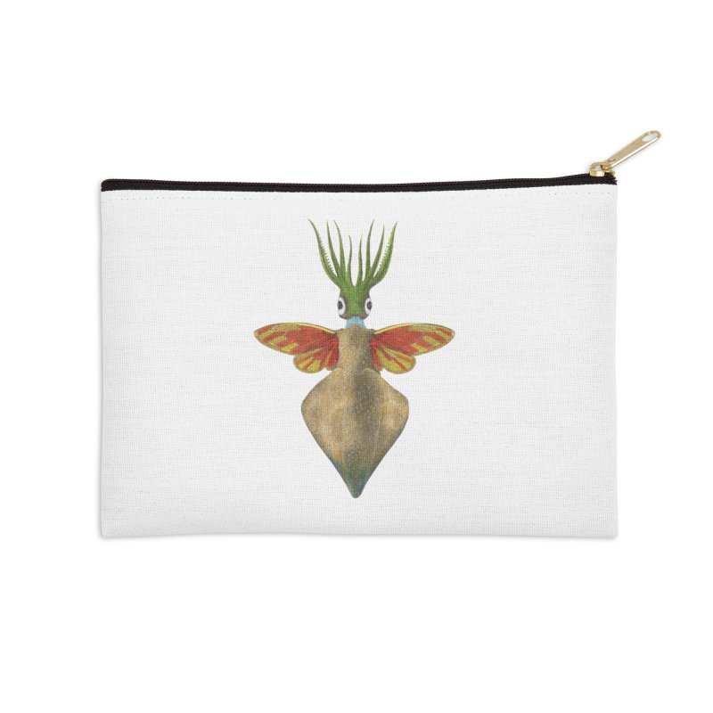 Winged Cuttlefish Accessories Zip Pouch by TeeGoo's Shop