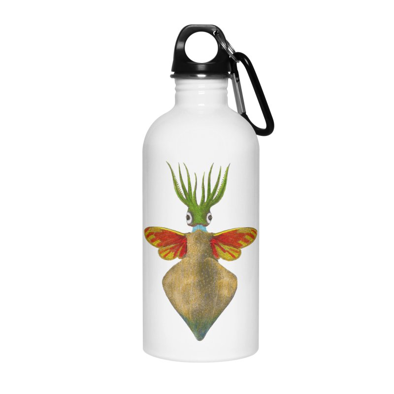 Winged Cuttlefish Accessories Water Bottle by TeeGoo's Shop