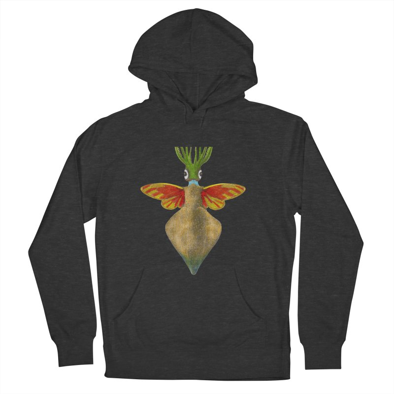 Winged Cuttlefish Women's French Terry Pullover Hoody by TeeGoo's Shop