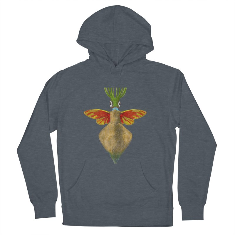 Winged Cuttlefish Men's French Terry Pullover Hoody by TeeGoo's Shop