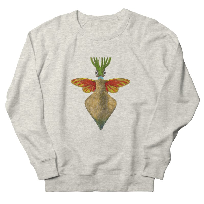 Winged Cuttlefish Women's French Terry Sweatshirt by TeeGoo's Shop