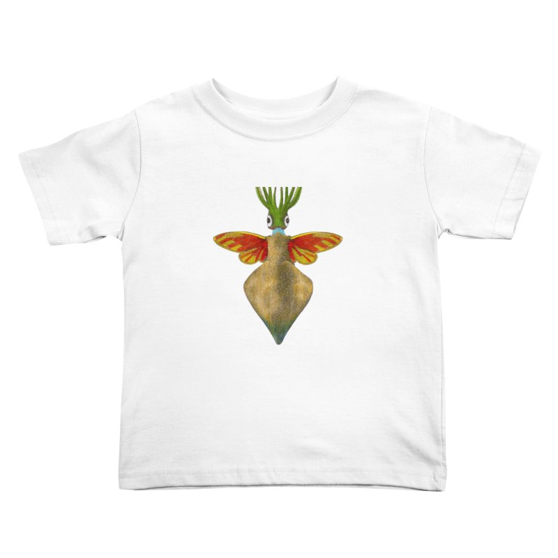 Winged Cuttlefish Kids Toddler T-Shirt by TeeGoo's Shop