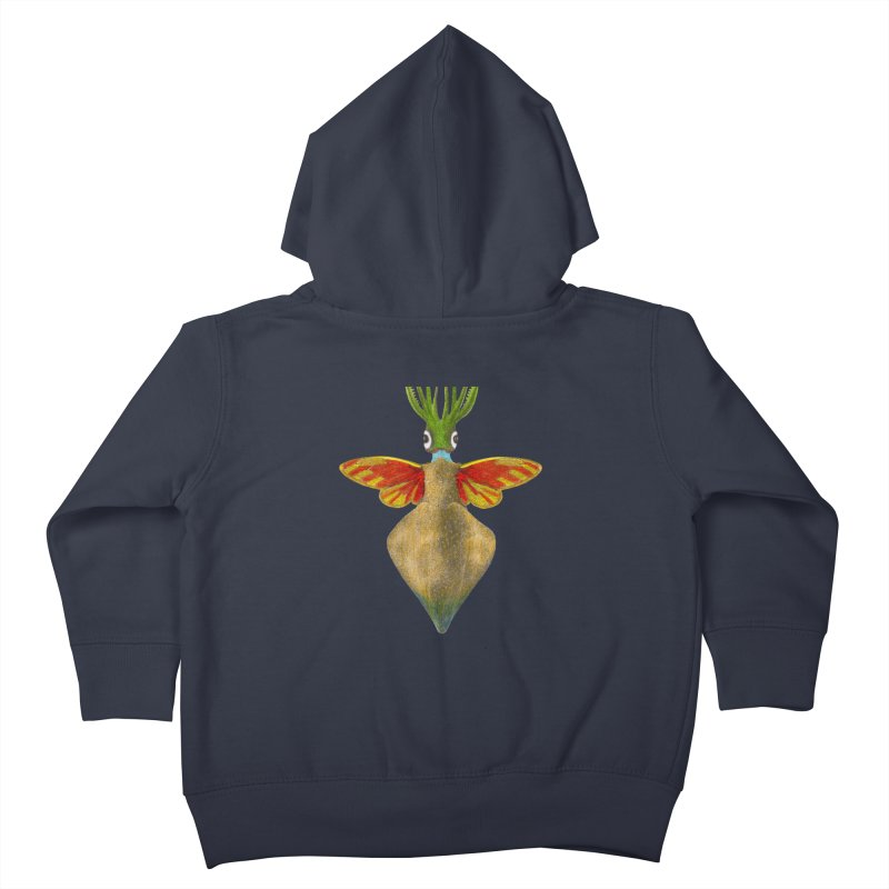 Winged Cuttlefish Kids Toddler Zip-Up Hoody by TeeGoo's Shop