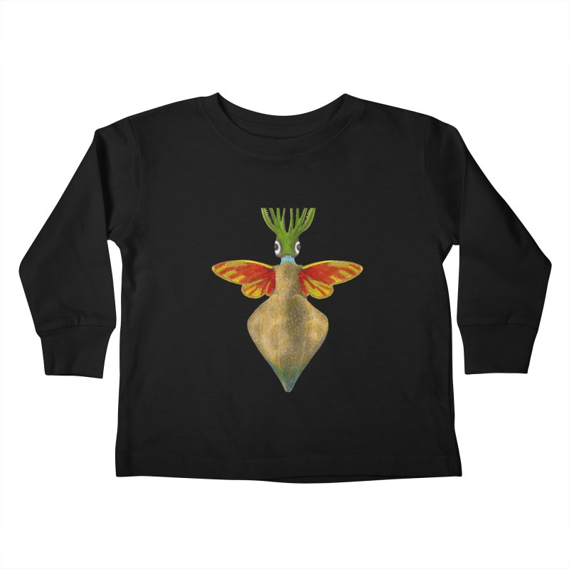 Winged Cuttlefish Kids Toddler Longsleeve T-Shirt by TeeGoo's Shop