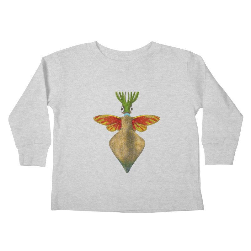Winged Cuttlefish Kids Toddler Longsleeve T-Shirt by TeeGoo's Shop