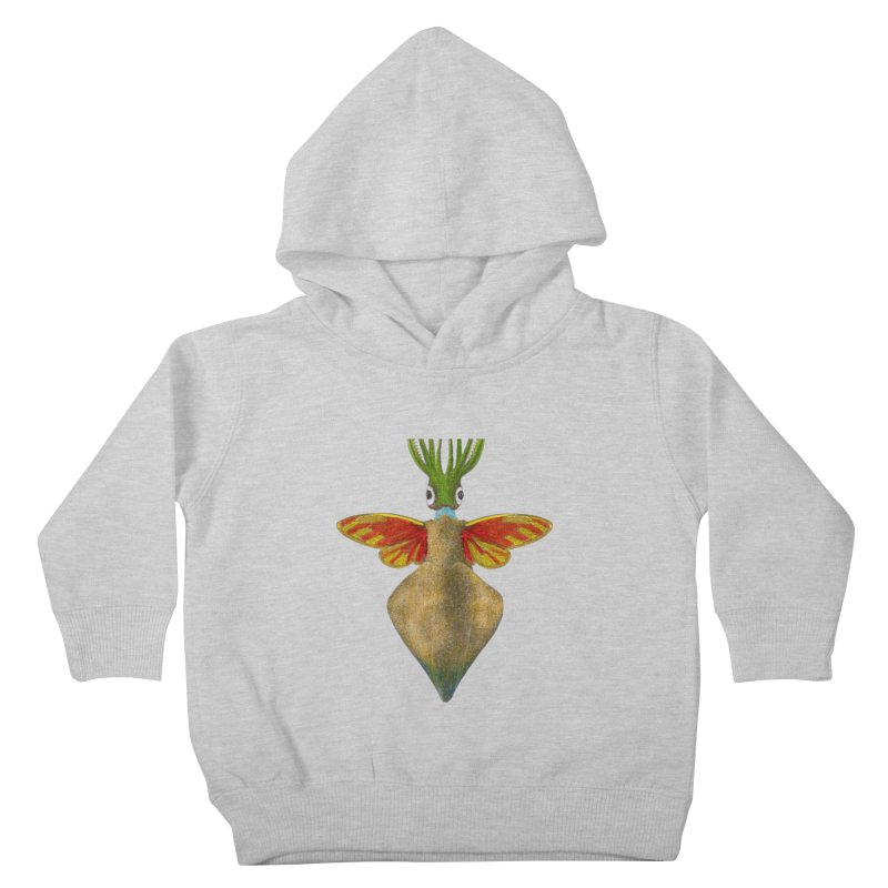 Winged Cuttlefish Kids Toddler Pullover Hoody by TeeGoo's Shop