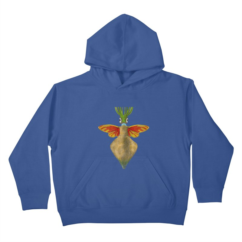 Winged Cuttlefish Kids Pullover Hoody by TeeGoo's Shop