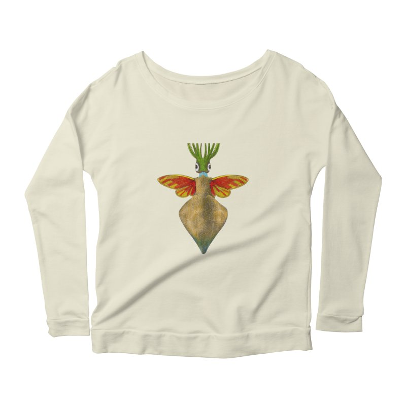 Winged Cuttlefish Women's Scoop Neck Longsleeve T-Shirt by TeeGoo's Shop