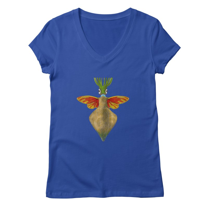 Winged Cuttlefish Women's V-Neck by TeeGoo's Shop