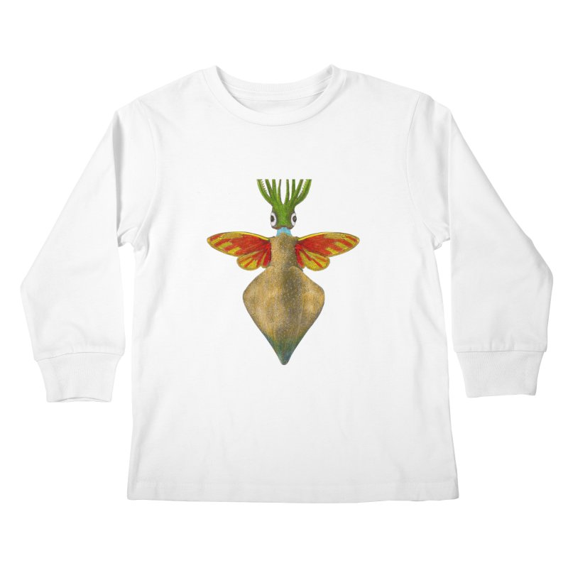 Winged Cuttlefish Kids Longsleeve T-Shirt by TeeGoo's Shop