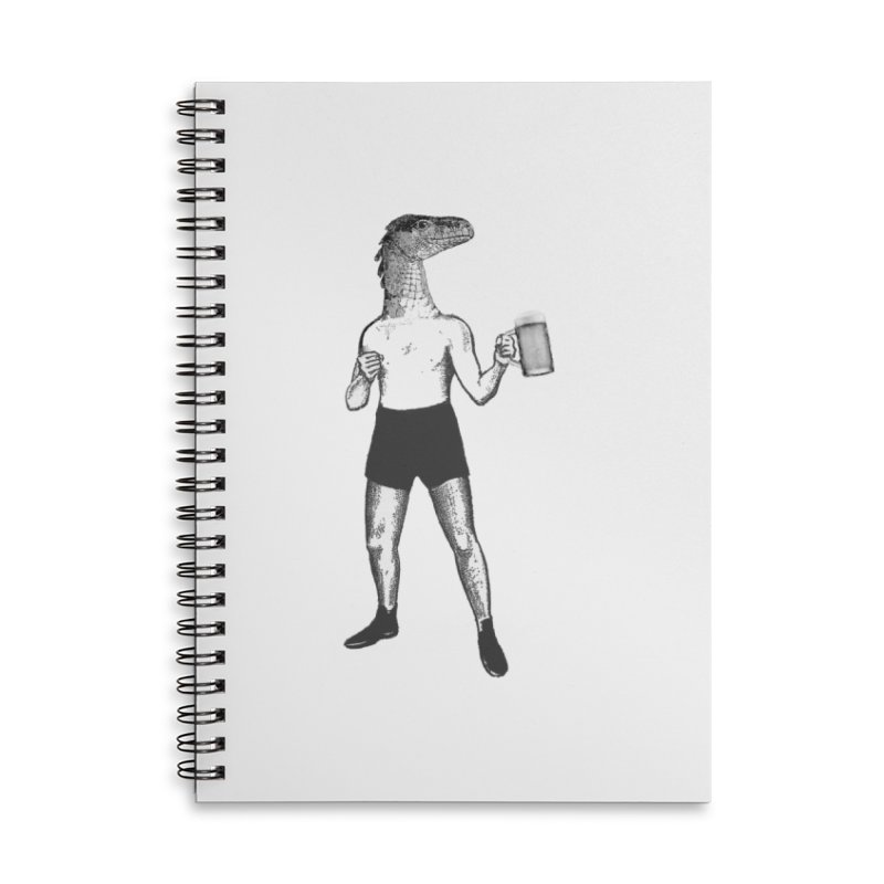 Beer Fighter Accessories Lined Spiral Notebook by TeeGoo's Shop