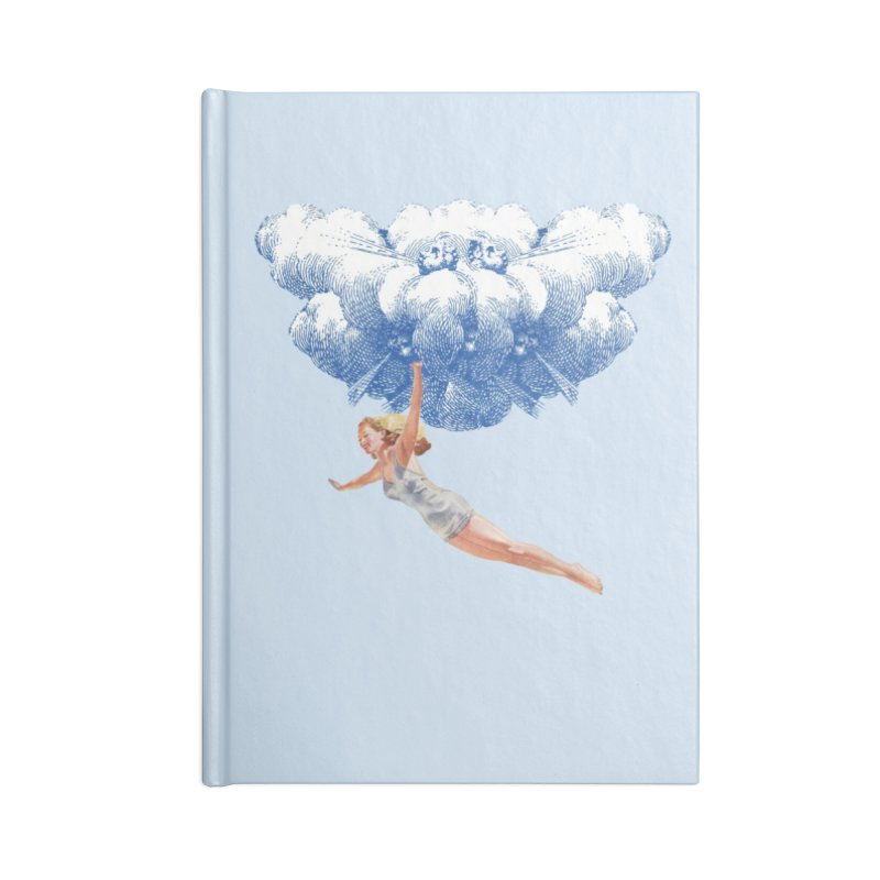Flying Girl Accessories Lined Journal Notebook by TeeGoo's Shop