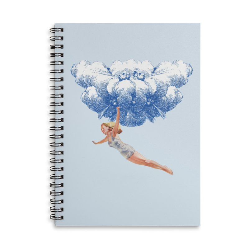 Flying Girl Accessories Lined Spiral Notebook by TeeGoo's Shop