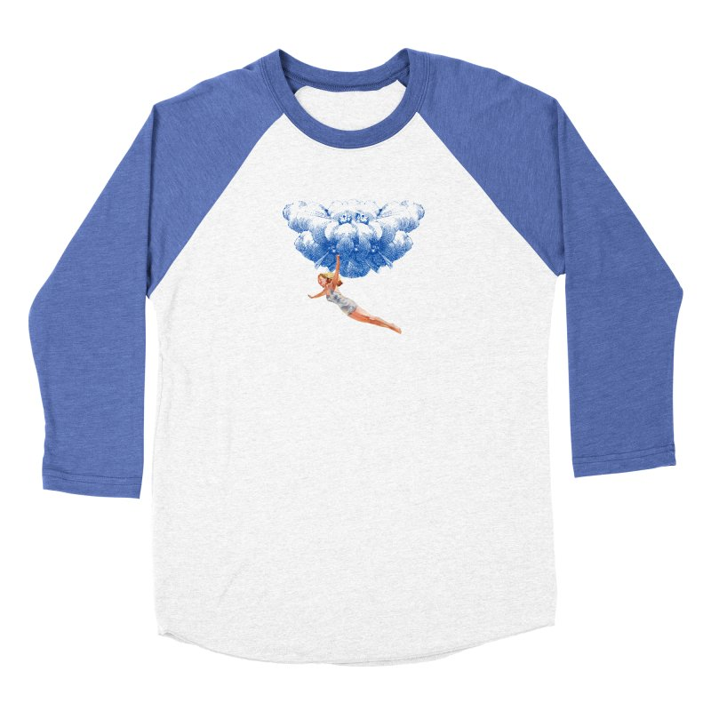 Flying Girl Men's Baseball Triblend Longsleeve T-Shirt by TeeGoo's Shop