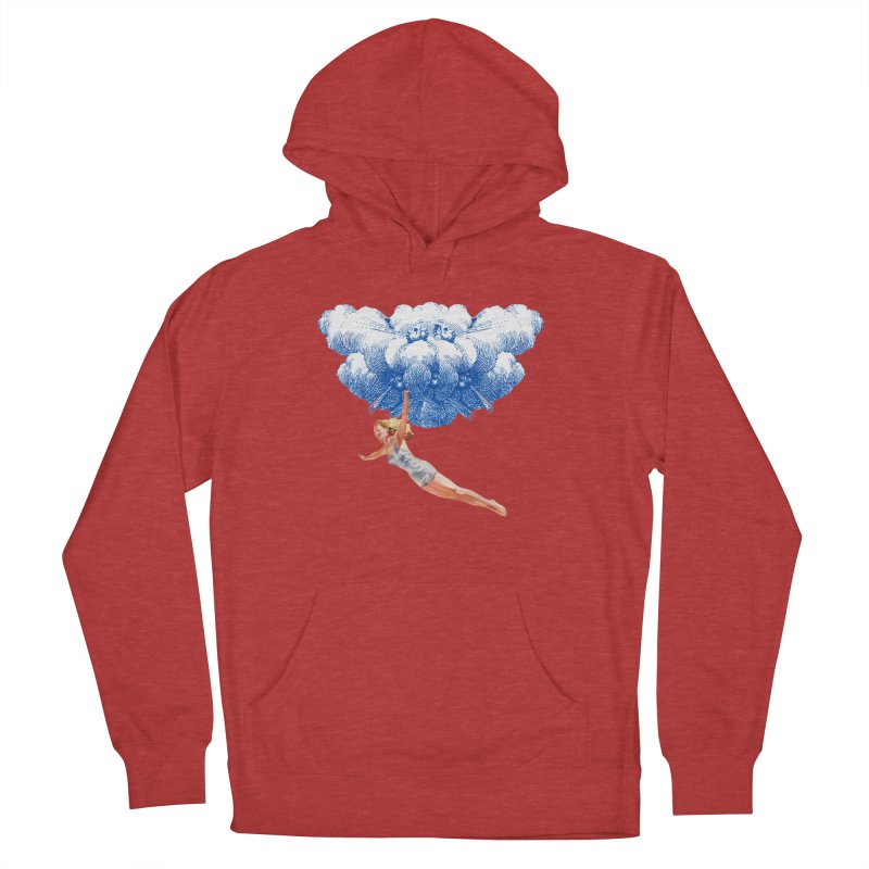 Flying Girl Women's French Terry Pullover Hoody by TeeGoo's Shop