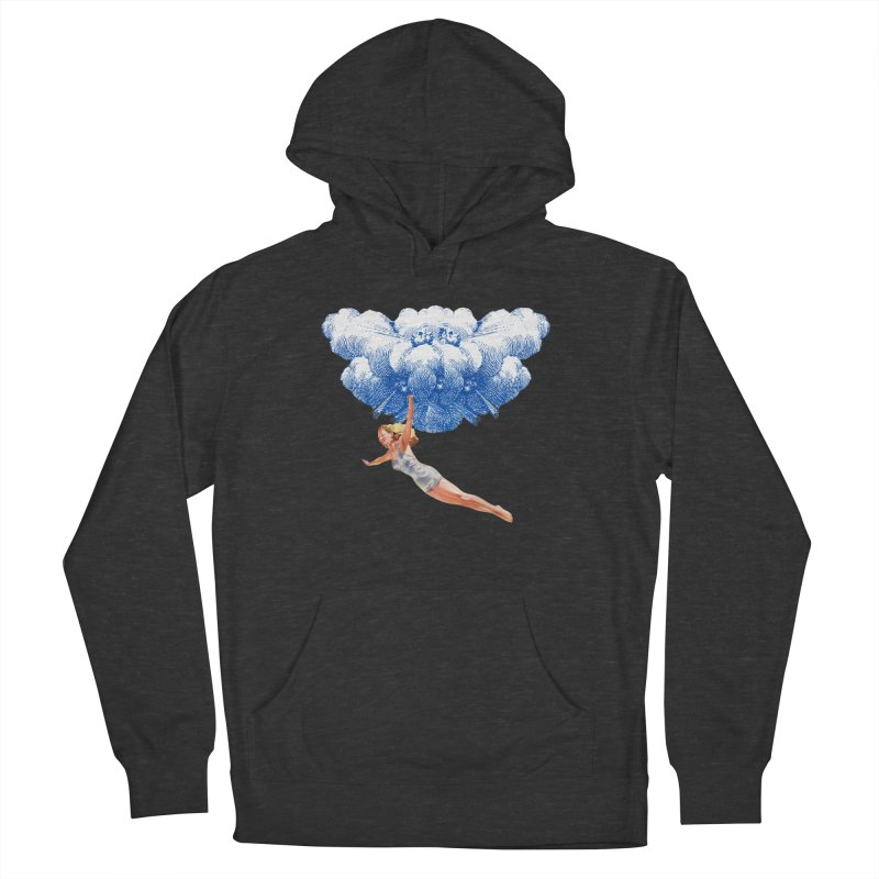 Flying Girl Men's French Terry Pullover Hoody by TeeGoo's Shop