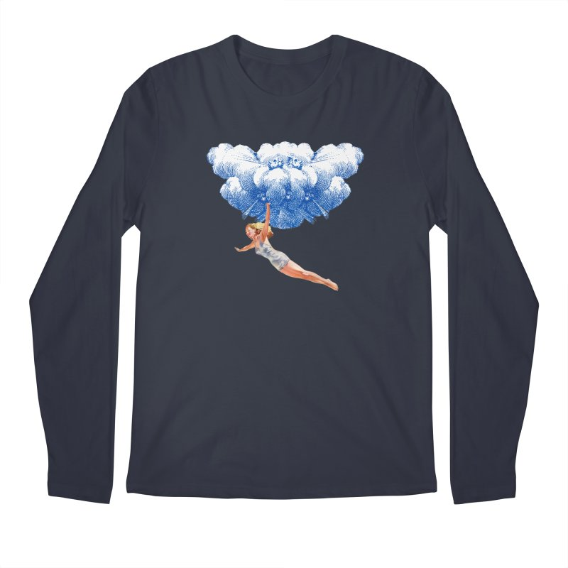 Flying Girl Men's Regular Longsleeve T-Shirt by TeeGoo's Shop