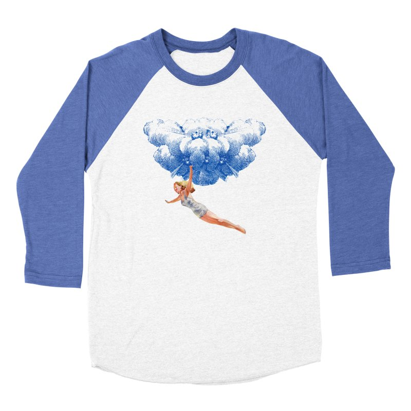 Flying Girl Women's Baseball Triblend Longsleeve T-Shirt by TeeGoo's Shop