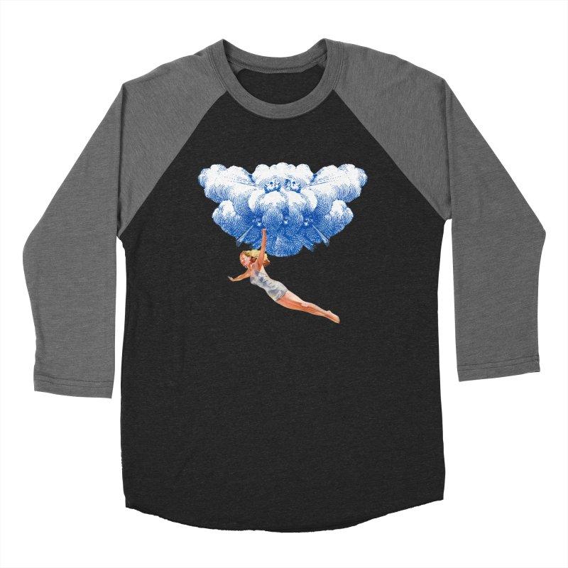 Flying Girl Women's Baseball Triblend Longsleeve T-Shirt by TeeGoo's Shop