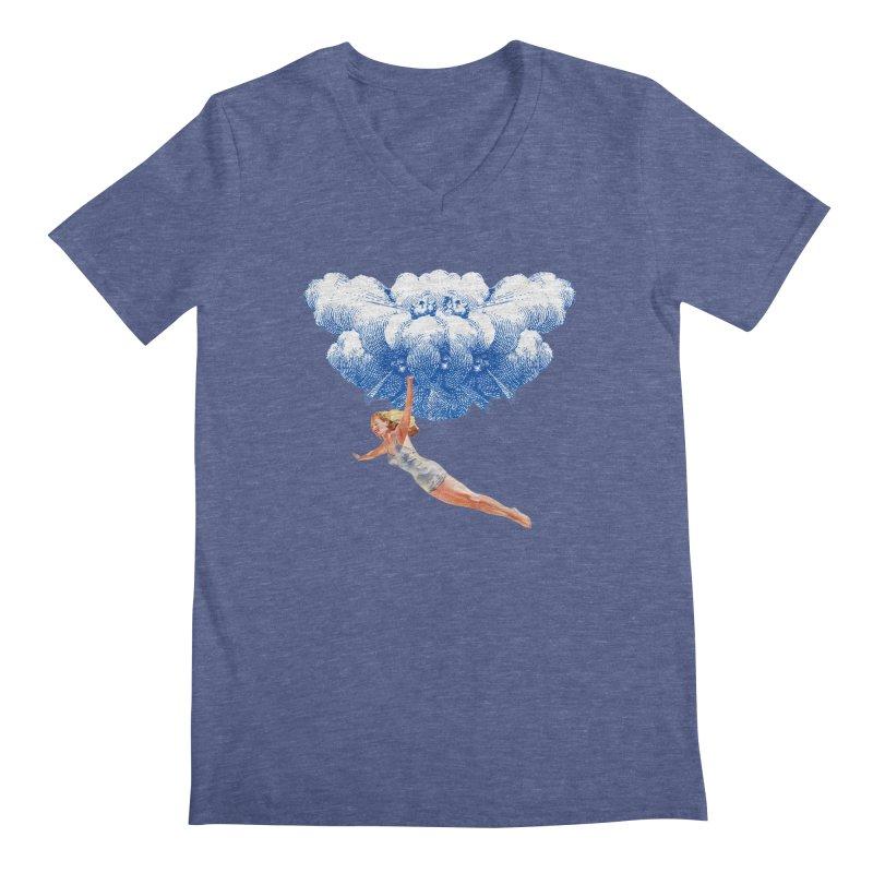 Flying Girl Men's Regular V-Neck by TeeGoo's Shop