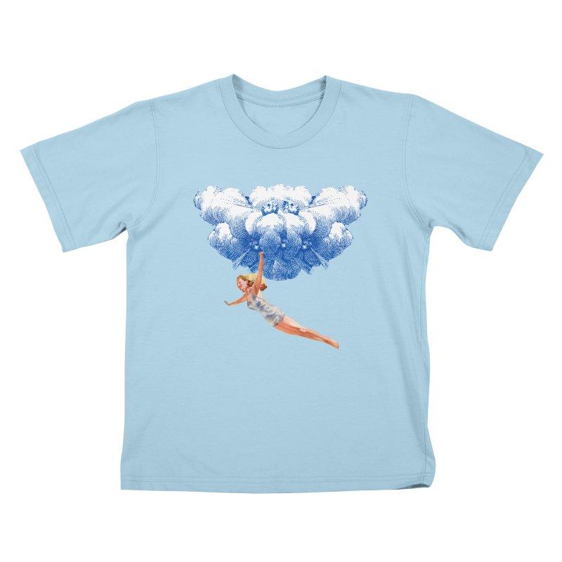 Flying Girl Kids T-Shirt by TeeGoo's Shop