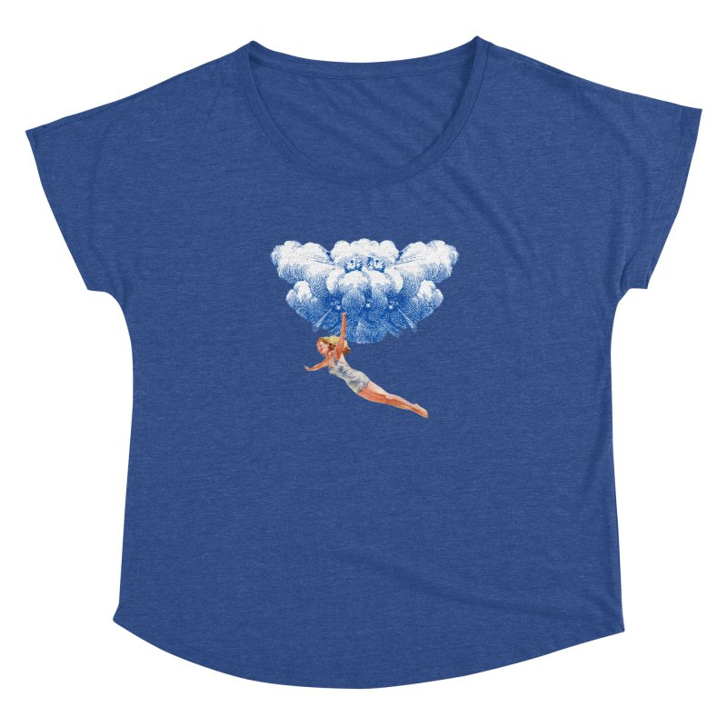 Flying Girl Women's Dolman Scoop Neck by TeeGoo's Shop