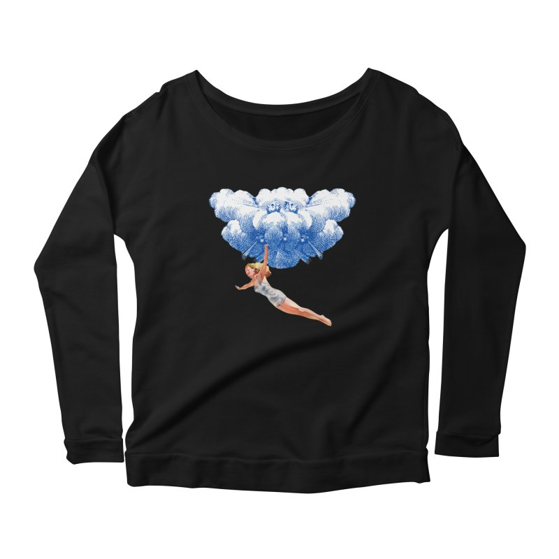 Flying Girl Women's Scoop Neck Longsleeve T-Shirt by TeeGoo's Shop