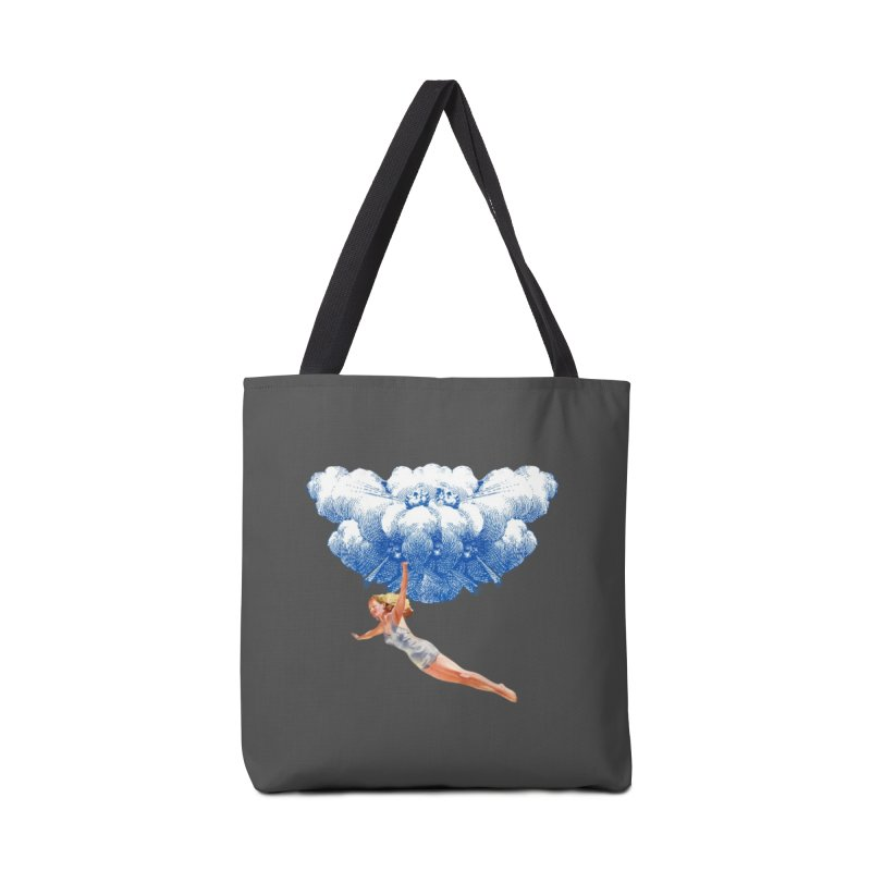 Flying Girl in Tote Bag by TeeGoo's Shop